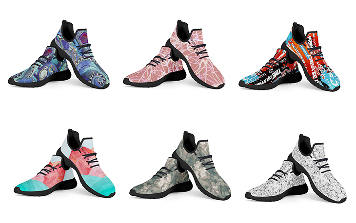 针织运动鞋设计效果